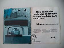 advertising Pubblicità 1980 LAVATRICE AEG LAVAMAT CLARA SL