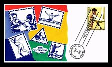 US COVER OLYMPICS CENTENNIAL GYMNASTICS FDC SCOTT 3068 THERMOGRAPHED CACHET