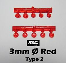 LIGHTS 3 mm RED 10 UNITS TYPE 2 - FAROS FARE FARO RESIN SLOT KIT DETAIL SET