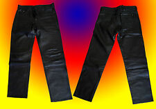 Jeans pelle taglia 36 [leather biker]
