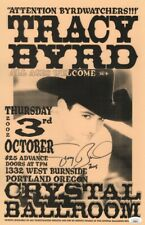 Tracy Byrd Signed Autographed 11X17 Poster 2002 Concert Poster JSA GG68073