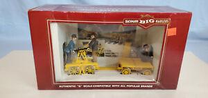 BACHMANN 96201 G HAND CAR W TRAILER OB...........TK
