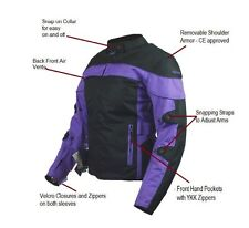 Women's CBCOOPER Motorcycle Black/Purple Waterproof Armor Cell Pockets Jacket