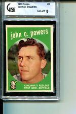 1959 TOPPS # 489 JOHN POWERS REDS GAI NM-MT 8 TOUGH LOW POP CARD SET BREAK