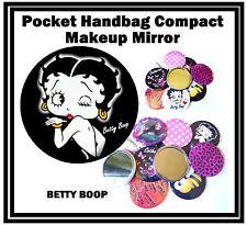 BETTY BOOP - HANDBAG / POCKET MAKE-UP COMPACT MIRROR - BRAND NEW - GIFT