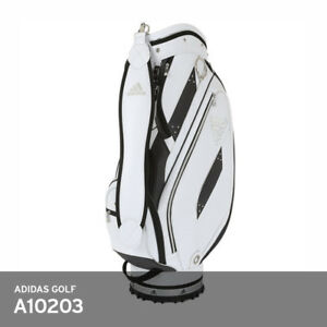 Adidas Golf AWR84 High Men's Caddie Cart Bag 9.5In 6-Way 8lbs EMS A10203 / White
