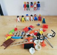Playmobil figures Bundle  x 12. Inc civilians, lots of accessories