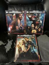 Iron Man 1 2 3 Trilogie 4K Blu-Ray Digital HD Steelbook Neu Verpackt Marvel Mcu