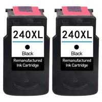 2x Black Ink for Canon PG 240 XL PIXMA MG3520 MG3620 MG2120 MG3522 MG3222 MG4120