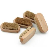 Herren Natur Borste Bartbürste Schnurrbart Bürste Oval Holz Griff Kamm GUT
