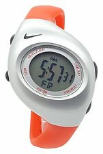 New Nike Kids Triax Junior WR0017 Special Orange and Silver Digital 38mm Watch
