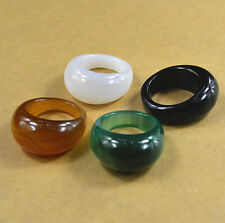100% Natural 9-10#  jade natural agate jade jewelry ring