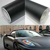 "12x60""Matte Black Vinyl Film Wraps Car DIY Stickers Vehicle Decal 3D Bubble Free"