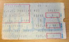 1985 U2 CONCERT TICKET STUB PHILADELPHIA THE UNFORGETTABLE FIRE TOUR BONO EDGE