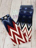 LuLaRoe Americana Kids S/M Patriotic Leggings Ombré Stars & Stripes