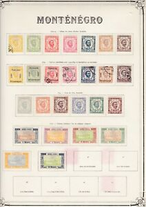 Montenegro very nice old time collection on 4 pages