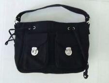 MARC JACOBS front flap clasp  pockets cotton canvas shouder hobo bag purse