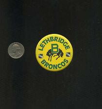 vintage Lethbridge Broncos WHL Western Hockey League  button pinback