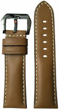 24x22 RIOS1931 for Panatime Tan Leather Watch Strap for Panerai