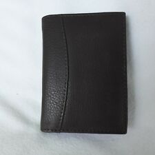 CENZONI Genuine Leather Card Holder Wallet - Dark Brown - holds 22 cards