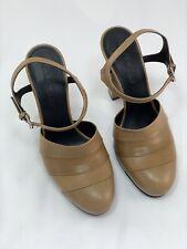 Womens Shoes, Jil Sander Block Heel Ankle Strap Tan Leather UK3.5/EU36 RRP £399