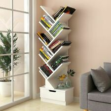 Randy & Travis Machinery 9-Tier Tree Bookshelf - White