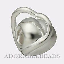 Authentic Chamilia Sterling Silver Eternity Heart Bead GA-121