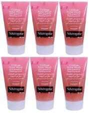 6 x 125ml Neutrogena Oil-Free Acne Face Wash Pink Grapefruit Foaming Scrub