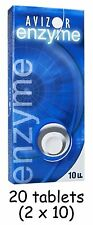 20 Avizor Enzyme Contact Lens Protein Remover Removal Tablets ( 2 X 10 )