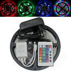 5M 3528 SMD 300LED RGB Flexible Light Strip Lamp+24 Key IR Remote+12V 2A Power