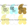 12 Personalised Baby Pram Shape Gift Swing Tag Bomboniere Birthday Shower Party