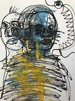 Hasworld original Abstract Expressionist Signed,COA, Street Art,portrait,Kunst
