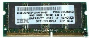 NEW 64MB PC-66 LAPTOP MEMORY 64M PC66 IBM 20L0242 SDRAM For NoteBook Computer