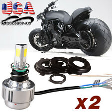 2x H4 HB2 9003 5200LM Hi/Lo Beam LED Motorcycle Headlight Lamp 12V HID White