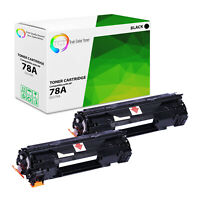TCT 2 Black CE278A 78A Laser Toner Cartridges For HP LaserJet P1606 P1536 P1566