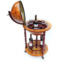 VINTAGE Globe Armadietto per bevande MINI BAR DRINK Storage Stile Retrò Trolley World