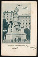 AX0252 Genova - Città - Monumento a Cristoforo Colombo - 1902 old postcard