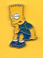 Pin's lapel pin pins Les Simpsons BART assis signé L.Y PARIS