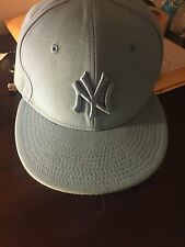Baby Blue New Era 7 1/2 new york Yankee fitted hat