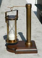 VIictorian Brass Sand Timer Hour Glass Antique Finish