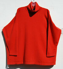 NWT Eskandar Bergdorf Goodman ORANGE Cashmere Turtleneck Sweater O/S $1490