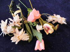 """Vintage Millinery Flower Collection 2 1/2 -3 1/2"""" All Pink Shades Shabby H1173"""