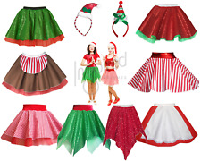 LADIES Christmas COSTUMES Elf CANDY CANE Mrs Santa Claus Dance SHOW Fancy Dress