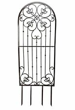 H Potter Large Garden Trellis Wrought Iron Heavy Scroll Metal Decoration 545