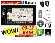 2009-2012 DODGE RAM Navigation Double Din CD/DVD CAR Radio Stereo bluetooth bt