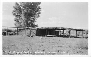 1920s Parker Arizona Mojave Indian Wailing House Willard RPPC Photo Postcard