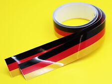 GERMAN FLAG STRIPE TAPE sticker 1220x25mm 2 LENGTHS!