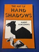 The Art Of Hand Shadows - Albert Almoznino 1970 Extremely Rare Paperback