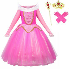 New Princess Sleeping Beauty Fancy Dress Costume Aurora Outfit