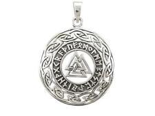 Sterling Silver Celtic Infinity Knots Runes Runic Norse Valknut Vikings Pendant